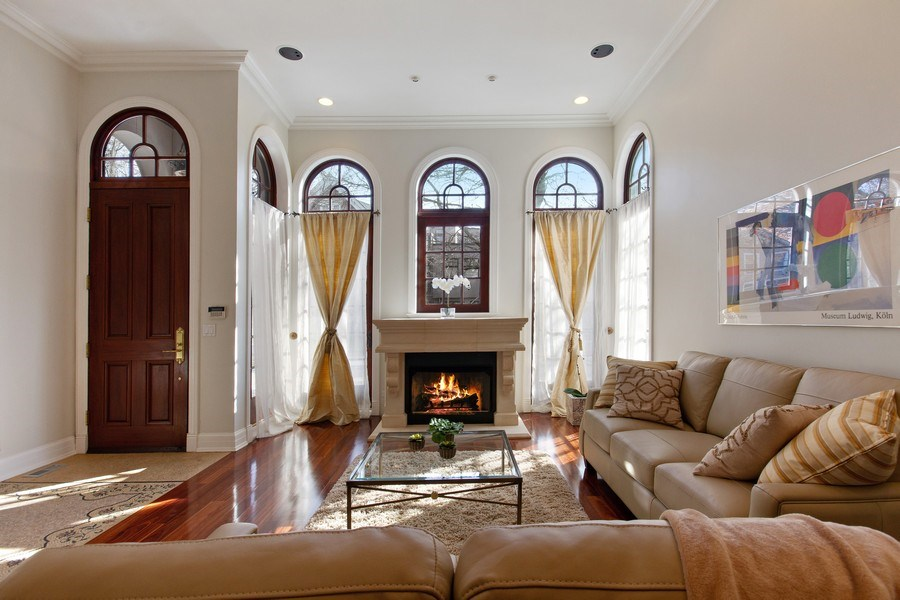 Real Estate Photography - 1664 N Burling, Chicago, IL, 60614 - Living Room