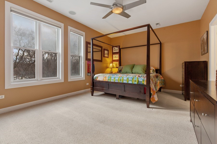Real Estate Photography - 511 Forest Ave, Evanston, IL, 60202 - Master Bedroom