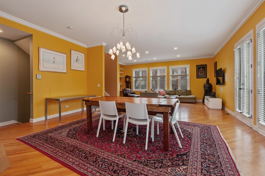 Real Estate Photography - 511 Forest Ave, Evanston, IL, 60202 - Living Room / Dining Room