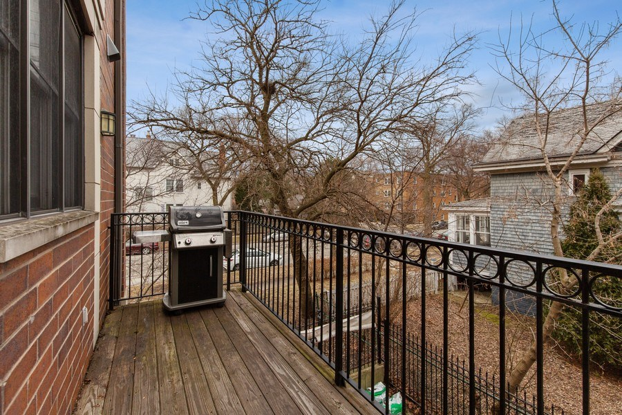Real Estate Photography - 511 Forest Ave, Evanston, IL, 60202 - Balcony