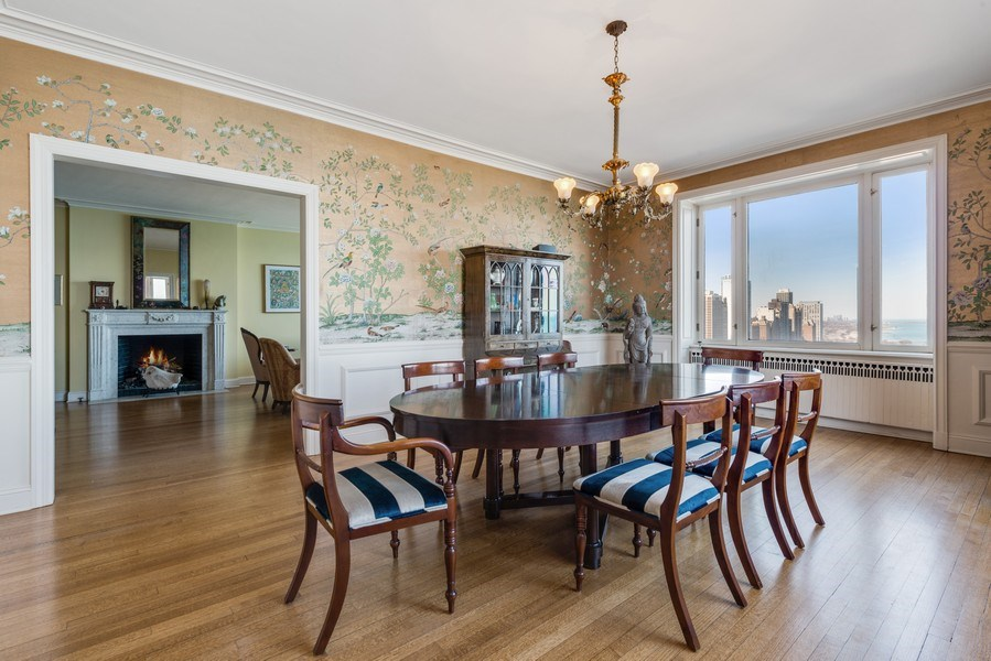 Real Estate Photography - 179 East Lake Shore Drive, Apartment 22E, Chicago, IL, 60611 - Dining Room