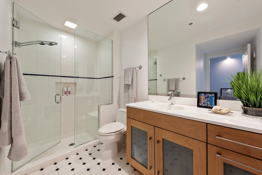 Real Estate Photography - 415 E North Water St, Unit 2803, Chicago, IL, 60611 - Bathroom