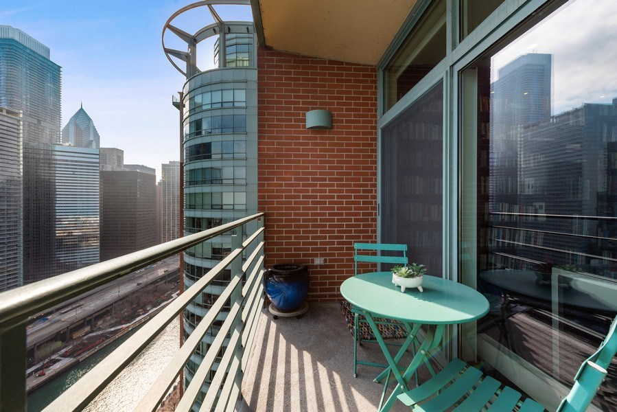 Real Estate Photography - 415 E North Water St, Unit 2803, Chicago, IL, 60611 - Terrace