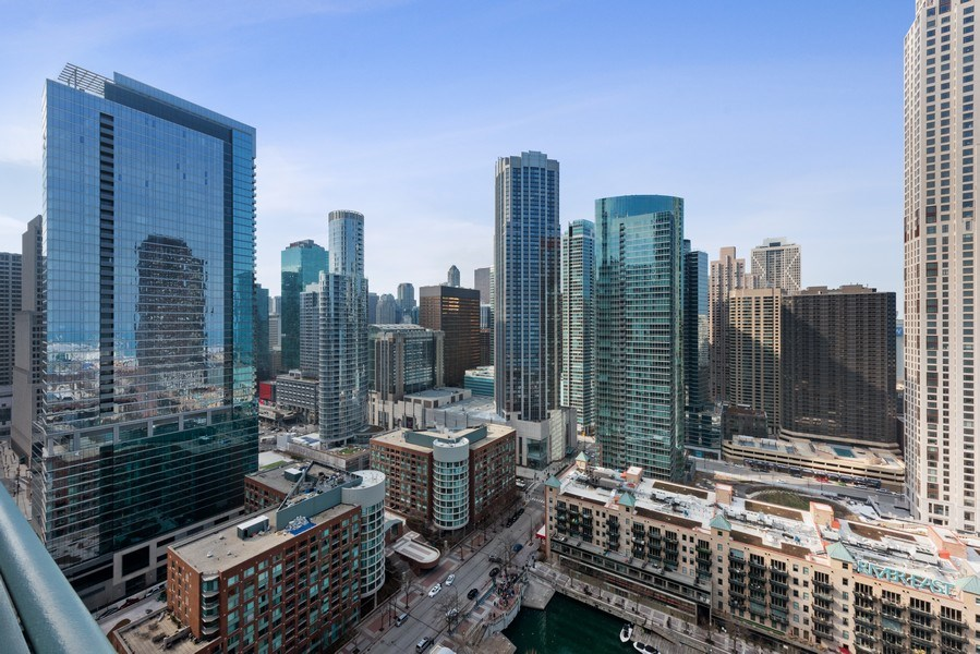 Real Estate Photography - 415 E North Water St, Unit 2803, Chicago, IL, 60611 - City View