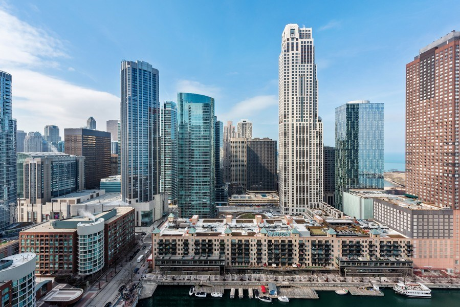 Real Estate Photography - 415 E North Water St, Unit 2803, Chicago, IL, 60611 - View