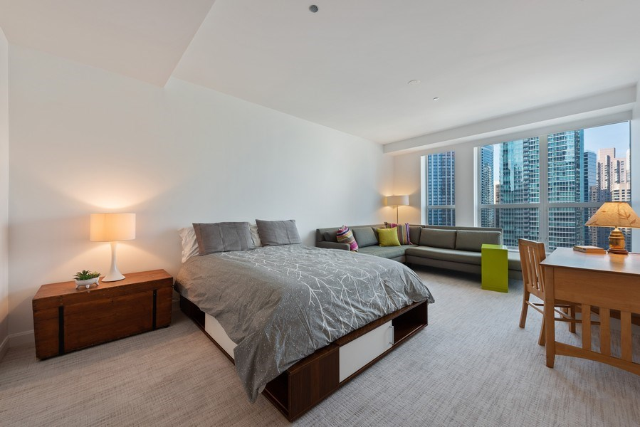 Real Estate Photography - 415 E North Water St, Unit 2803, Chicago, IL, 60611 - En-suite Bedroom