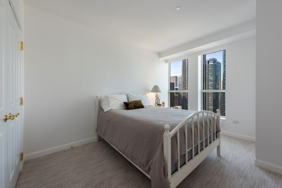 Real Estate Photography - 415 E North Water St, Unit 2803, Chicago, IL, 60611 - Bedroom