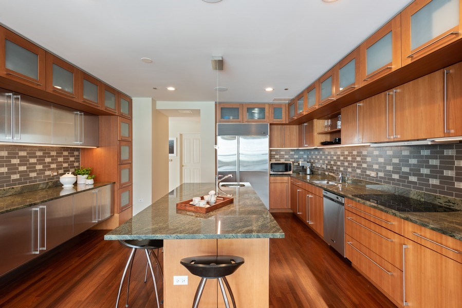 Real Estate Photography - 415 E North Water St, Unit 2803, Chicago, IL, 60611 - Kitchen