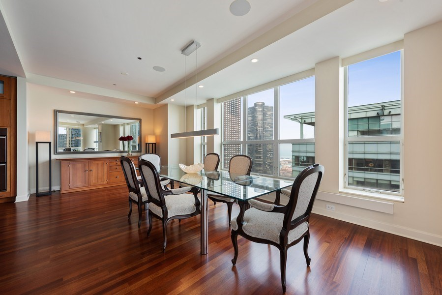 Real Estate Photography - 415 E North Water St, Unit 2803, Chicago, IL, 60611 - Dining Room