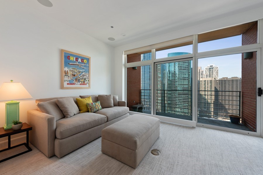 Real Estate Photography - 415 E North Water St, Unit 2803, Chicago, IL, 60611 - Den