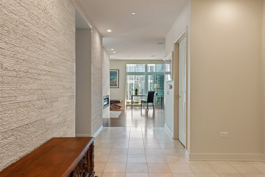 Real Estate Photography - 415 E North Water St, Unit 2803, Chicago, IL, 60611 - Foyer