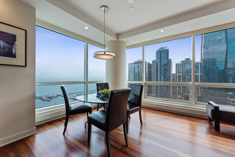 Real Estate Photography - 415 E North Water St, Unit 2803, Chicago, IL, 60611 - Dining Area