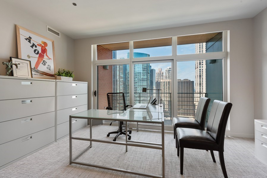 Real Estate Photography - 415 E North Water St, Unit 2803, Chicago, IL, 60611 - Office