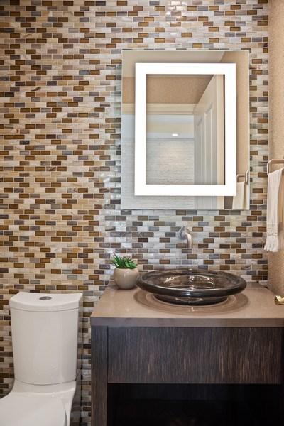 Real Estate Photography - 415 E North Water St, Unit 2803, Chicago, IL, 60611 - Half Bath