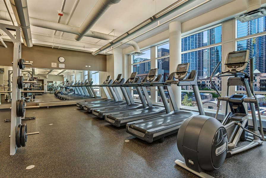 Real Estate Photography - 415 E North Water St, Unit 2803, Chicago, IL, 60611 - Exercise Room