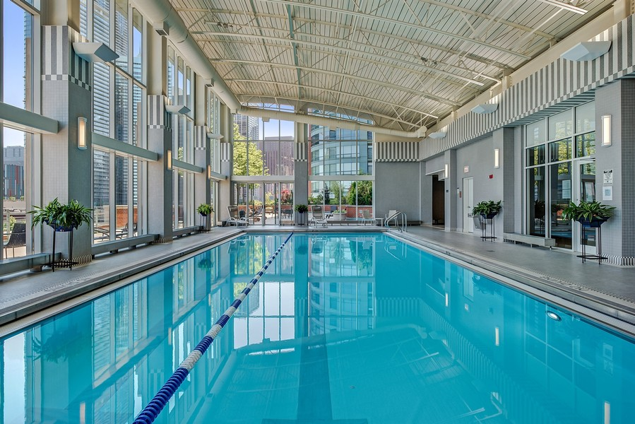 Real Estate Photography - 415 E North Water St, Unit 2803, Chicago, IL, 60611 - Pool