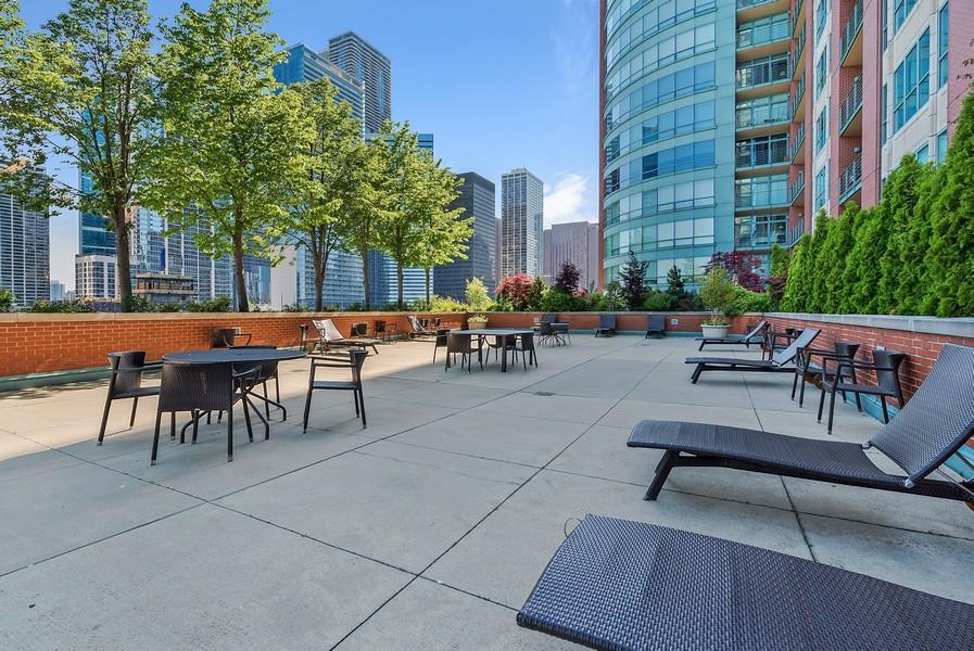 Real Estate Photography - 415 E North Water St, Unit 2803, Chicago, IL, 60611 - Sun Deck