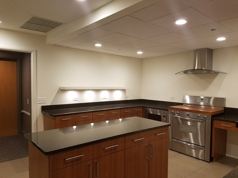 Real Estate Photography - 415 E North Water St, Unit 2803, Chicago, IL, 60611 - Catering Kitchen for Entertainment Suite