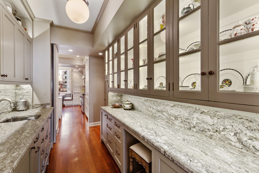 Real Estate Photography - 999 Lake Shore Dr, 3C, Chicago, IL, 60611 - Butler's pantry