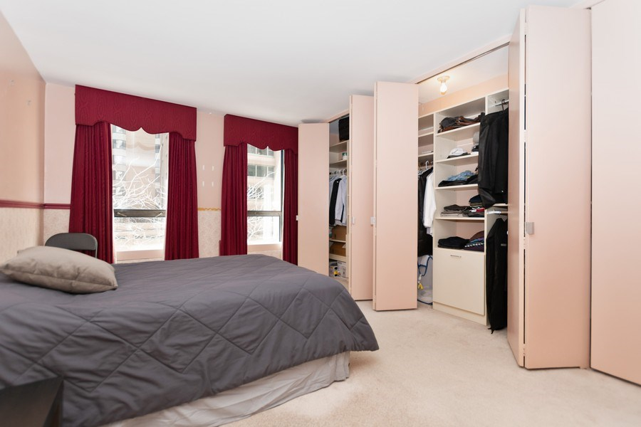 Real Estate Photography - 260 E Chestnut St, Chicago, IL, 60611 - Bedroom w/ Custom Closets