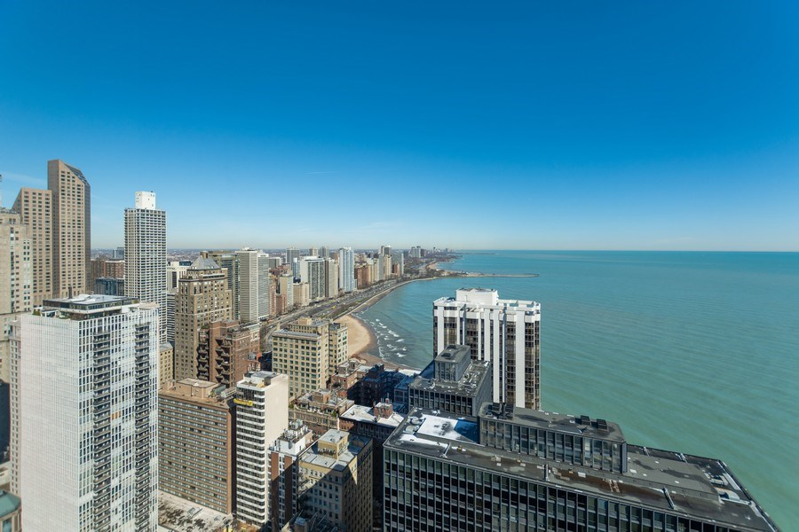 Real Estate Photography - 260 E Chestnut St, Chicago, IL, 60611 - Roof top view from pool area