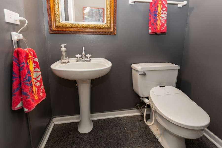 Real Estate Photography - 714 S Madison St, Hinsdale, IL, 60521 - Half Bath