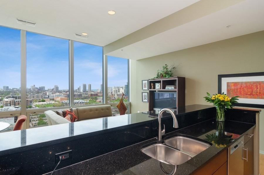 Real Estate Photography - 500 W Superior Street, 1402, Chicago, IL, 60654 - Kitchen