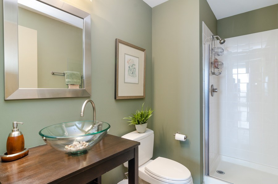 Real Estate Photography - 500 W Superior Street, 1402, Chicago, IL, 60654 - Guest Bathroom