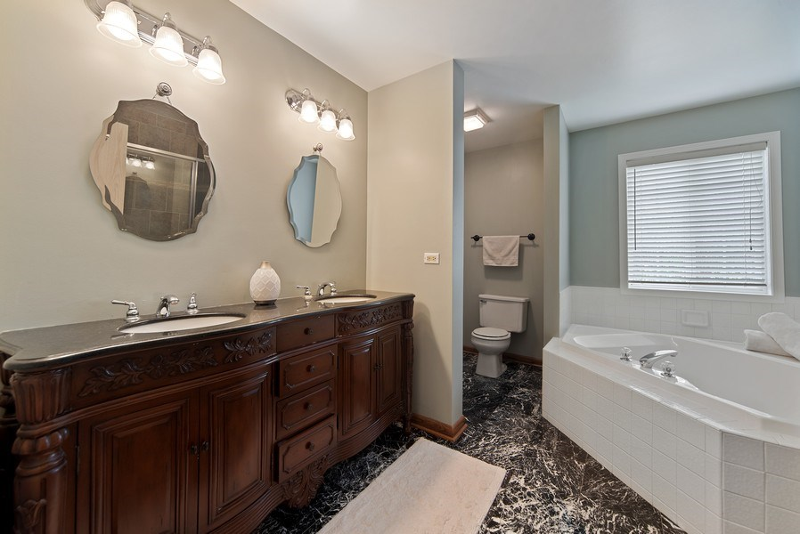 Real Estate Photography - 768 Alleghany Rd., Grayslake, IL, 60030 - Master Bathroom