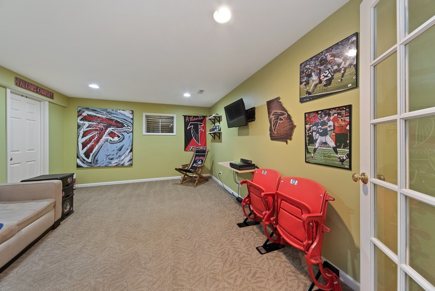 Real Estate Photography - 768 Alleghany Rd., Grayslake, IL, 60030 - Lower Level Media Room
