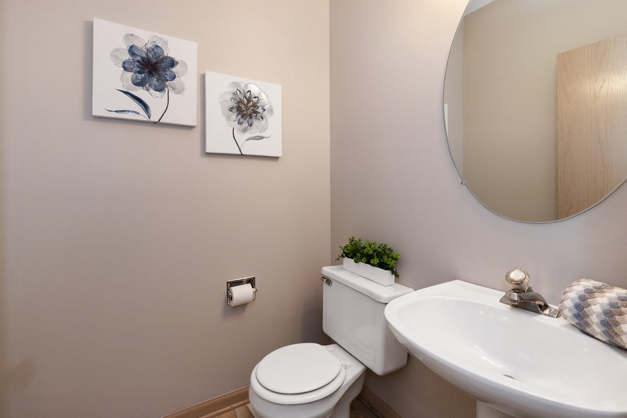 Real Estate Photography - 768 Alleghany Rd., Grayslake, IL, 60030 - Powder Room