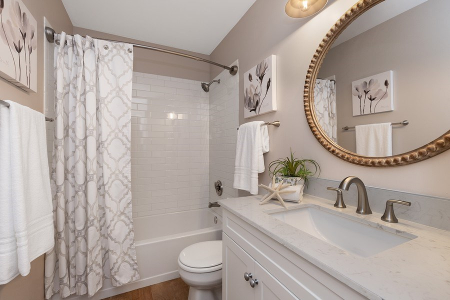 Real Estate Photography - 768 Alleghany Rd., Grayslake, IL, 60030 - Second Floor Hall Bathroom
