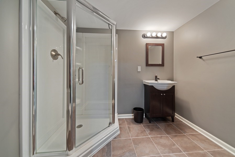 Real Estate Photography - 768 Alleghany Rd., Grayslake, IL, 60030 - Lower Level Bathroom