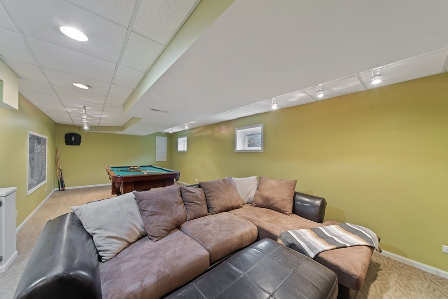 Real Estate Photography - 768 Alleghany Rd., Grayslake, IL, 60030 - Lower Level Recreation Room