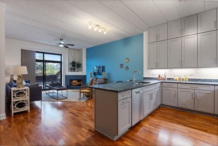 Real Estate Photography - 1301 W Washington, #208, Chicago, IL, 60607 - Kitchen