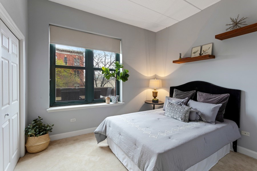 Real Estate Photography - 1301 W Washington, #208, Chicago, IL, 60607 - Bedroom