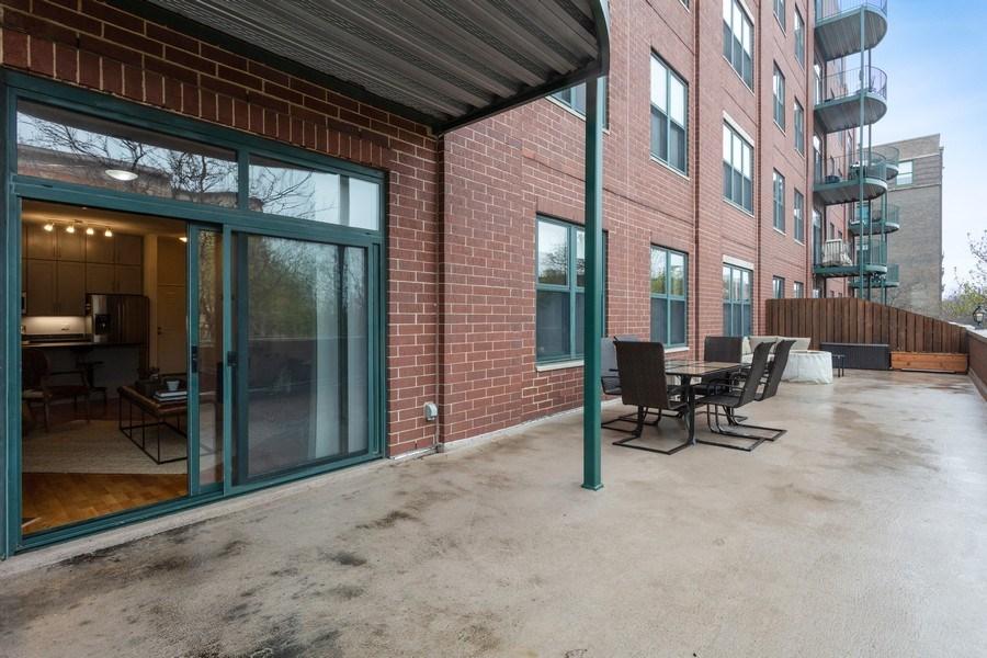 Real Estate Photography - 1301 W Washington, #208, Chicago, IL, 60607 - Balcony