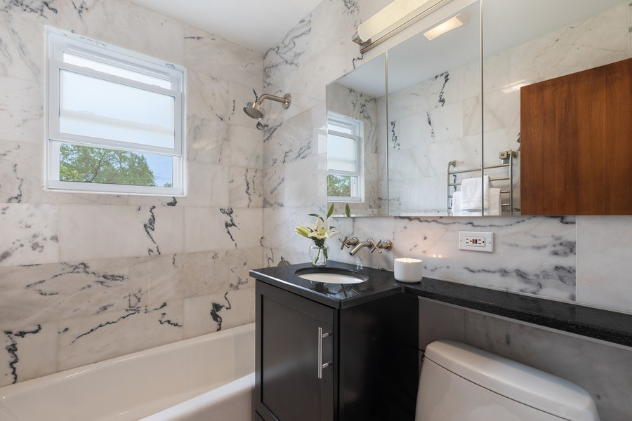 Real Estate Photography - 2037 East Touhy, Des Plaines, IL, 60018 - Bathroom