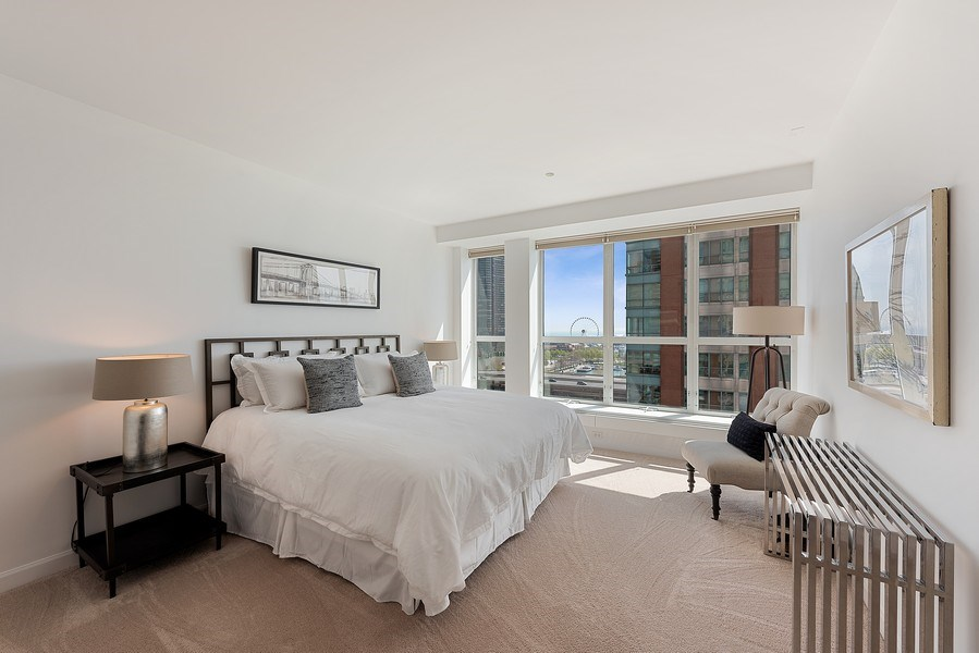 Real Estate Photography - 415 E North Water Street, 1303, CHicago, IL, 60611 - Master Bedroom