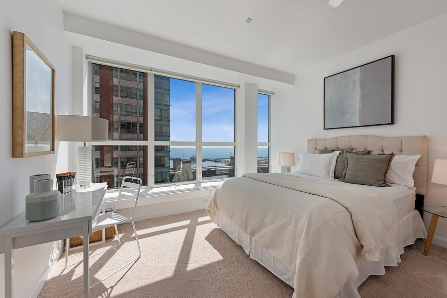 Real Estate Photography - 415 E North Water Street, 1303, CHicago, IL, 60611 - 2nd Bedroom