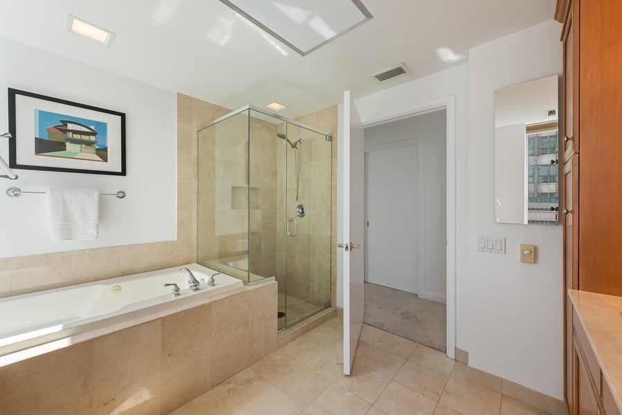 Real Estate Photography - 415 E North Water Street, 1303, CHicago, IL, 60611 - Master Bathroom