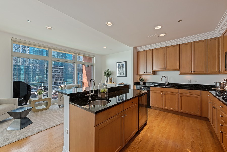 Real Estate Photography - 415 E North Water Street, 1303, CHicago, IL, 60611 - Kitchen
