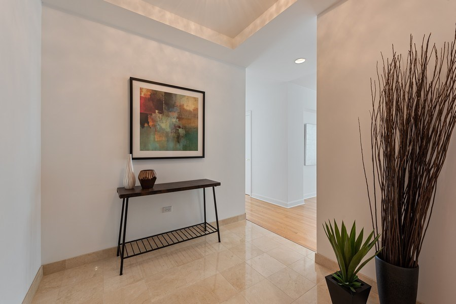 Real Estate Photography - 415 E North Water Street, 1303, CHicago, IL, 60611 - Foyer