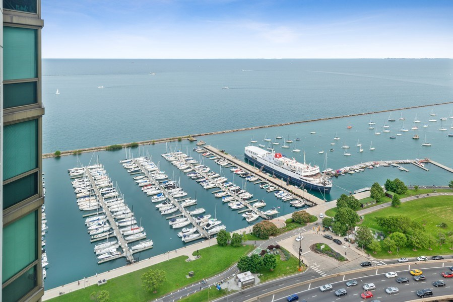 Real Estate Photography - 195 N Harbor Dr, Unit 3505, Chicago, IL, 60601 - View