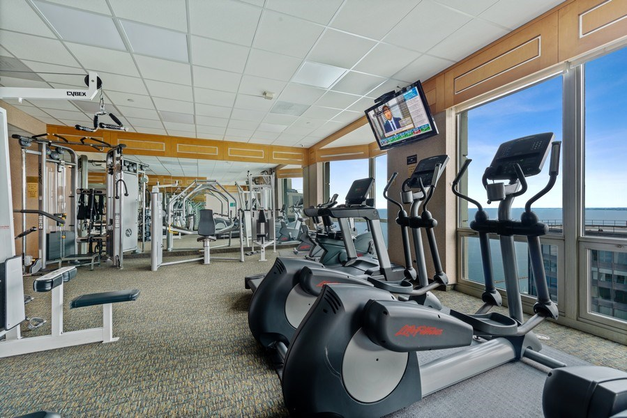 Real Estate Photography - 195 N Harbor Dr, Unit 3505, Chicago, IL, 60601 - Gym