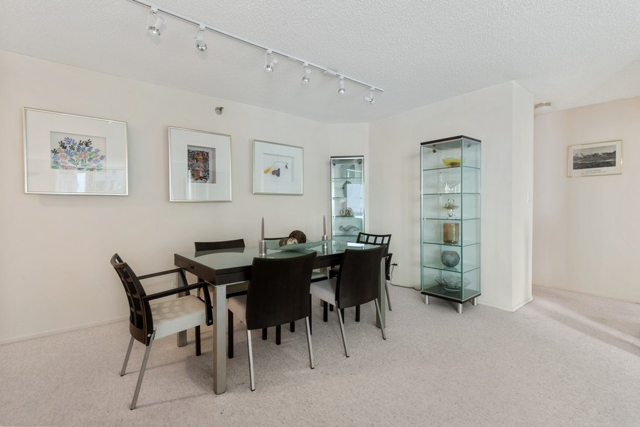 Real Estate Photography - 195 N Harbor Dr, Unit 3505, Chicago, IL, 60601 - Dining Room