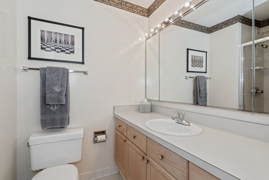 Real Estate Photography - 195 N Harbor Dr, Unit 3505, Chicago, IL, 60601 - 2nd Bathroom