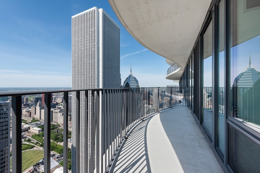 Real Estate Photography - 225 N Columbus Ave, Unit 7807, Chicago, IL, 60601 - Terrace 2