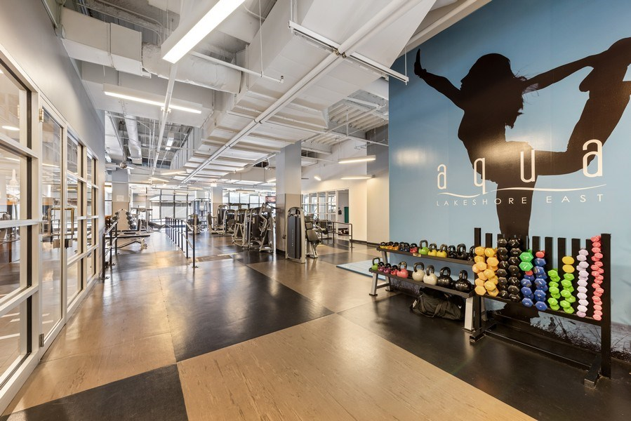 Real Estate Photography - 225 N Columbus Ave, Unit 7807, Chicago, IL, 60601 - Gym