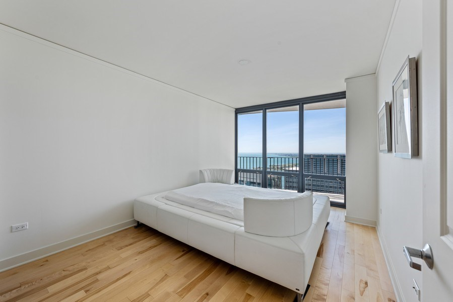 Real Estate Photography - 225 N Columbus Ave, Unit 7807, Chicago, IL, 60601 - Bedroom